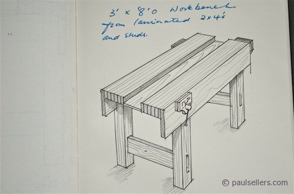 How to Build a Workbench – Drawings and Measurments (part7) - Paul ...