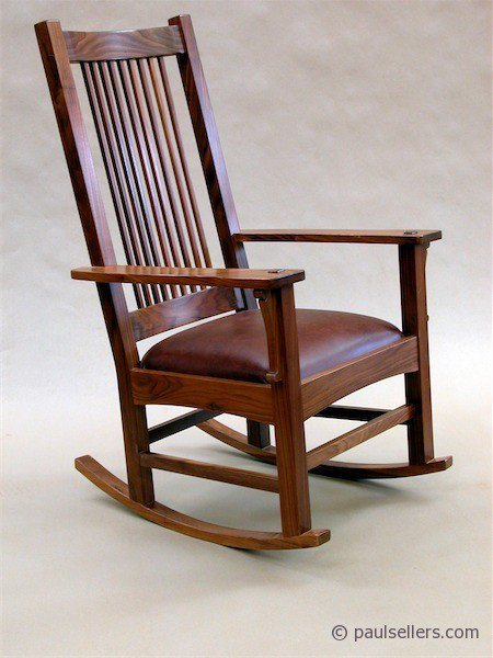 Mission style and southern comforts paul sellers 39 blog for Small wooden rocking chair for crafts