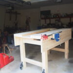 """Pat Taylor- After watching one video I knew I had to build this. Used Home Depot 2x4s and 2x6s, the best I could find but with plenty of knots. I with a working height of 43 inches (I'm 6'4""""), and so far I like it. I had fun and learned a lot of basic woodworking. Now I look forward to using this workbench as it was intended, and to learn much more from Paul!"""
