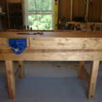 Richard Oberg- I used the best 2x4's Home Depot sells. I used 2x6's &n2x8's for the aprons. I made a few mistakes but on the whole it is a most usable bench. I wanted to let Paul know that at 65 I never thought I could accomplish this. I now have the confidence to construct furniture. It is becuase of Paul, his encouragement and teachings. Can't thank him enough.